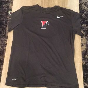 Grey Nike Dri-fit UPenn/Franklin field shirt